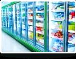 Freezer isle of convenience store