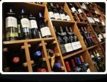 Wine bottles in isle