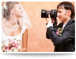 wedding photographer taking picture