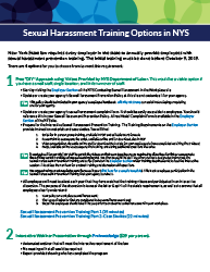 Sexual Harassment Training Options