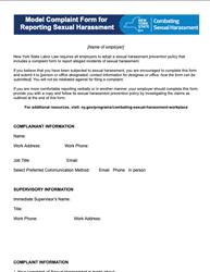 Combat Harassment Complaint Form